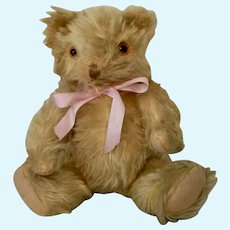 Blonde Mohair American Jointed Bear, Ca 20s-30s