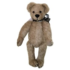 """10"""" Taupe Mohair Jointed Vintage Bear"""