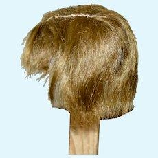 Short Brunette Human Hair Wig for Boy Doll