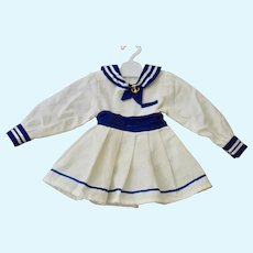"""Sailor Dress for 14-15"""" Doll w/ Anchor Pin"""