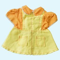 Cute Yellow & Orange Dress for Child Doll