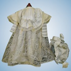 Antique French Bebe Costume with Bonnet