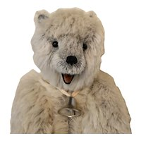 ICE, Grey-White Mohair Artist Polar Bear w/Open Mouth & Tongue
