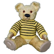 Cute 30s Chad Valley Teddy with Button and Label