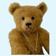 """Midas, OOAK Gold Mohair Art Bear, 17"""""""