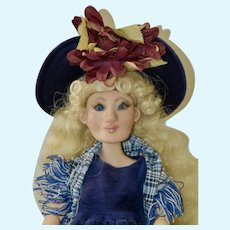 Wendy, OOAK Polymer Clay Sculpted Art Doll, BJD