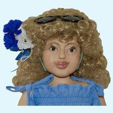 "Kitty, 18.5"" OOAK Polymer Clay BJD Art Doll"