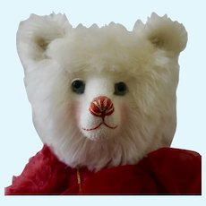 """Sweetheart, Charming 18"""" Red and White Mohair Art bear"""