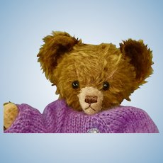 Cute American 1930s-40s Knickerbocher Teddy Bear