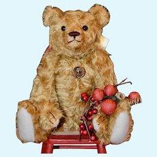"Ted, 12"" Gold Mohair Vintage Style Artist Bear OOAK"
