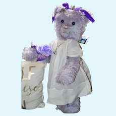 """Lavender Rose, 22"""" Sweet Little Girl, OOAK Mohair Art Bear"""