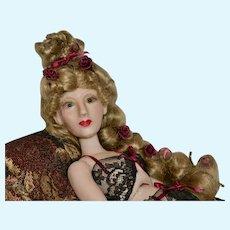 Leonora, OOAK Polymer Clay Art Doll BJD