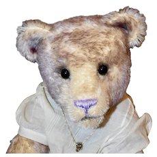 "Lavender Lace, 19"" OOAK Art Bear, Tipped Mohair"