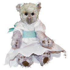 "Chloe, 16"" Lavender and Pale Green Mohair Art Bear"