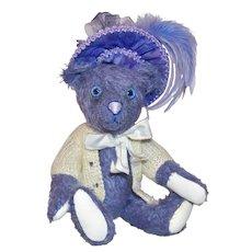 "Miss Violet Blue, Contemporary 10.5"" Mohair Artist Bear"