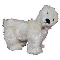 Snowball, OOAK White Mohair Polar Bear