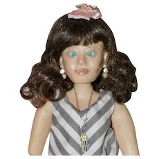 """Sissy, 18"""" OOAK Polymer Clay Art Doll, BJD"""