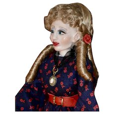 The Cross Eyed Countess, OOAK Polymer Clay Art Doll