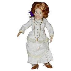 "Ms Margaret, OOAK 10"" Polymer Clay Art Doll, BJD"
