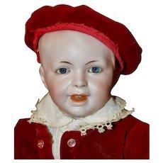 """Adorable 13"""" SFBJ 235 Boy in Red Velvet Suit"""