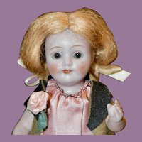 """Darling 6"""" All Bisque PM Character w/ Brown Glass Eyes"""