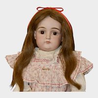 """Sweet Closed Mouth Pouty Early Kestner, 21.5"""" Tall"""