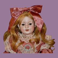 "Darling 16.5"" Gebruder Heubach Dolly Dimple, Rare Character"