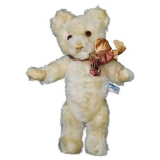 "Darling 11.5"" White Mohair Farnell Twyford Bear, C30s"
