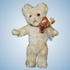 "Darling 11.5"" White Mohair Farnell Twyford Bear, Free Shipping in the US"