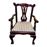 Beautiful Vintage Doll Chair w/ Upholstered Seat