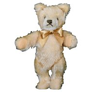 "6.5"" Steiff Beige Mohair Bear, 70s Mask Face, No ID"