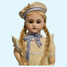 "17"" DEP French Bebe in Cute Sailor Dress and Hat"