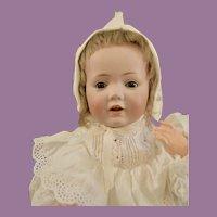 """Sweet 15"""" Kestner 245 Hilda Baby in Long Gown"""