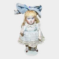 """5.5"""" Kestner All Bisque #184 Character Doll w/Closed Mouth"""