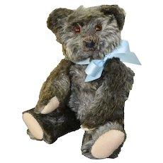 Jopi Joseph Pittman Teddy Bear C 20s or 30s, Silver Grey Mohair