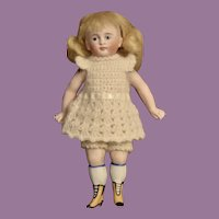 """5.25"""" All Bisque w/ Yellow Boots, Closed Mouth, Character Face"""