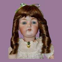 "Pretty 19.5"" Kestner 214 w/ Blue Sleep Eyes, Excellent Condition"