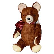 40s Ideal Teddy Bear with Tag, 5-Way Jointed
