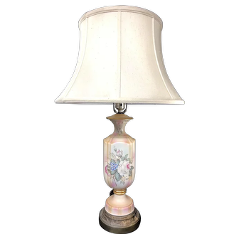 Vintage Hand painted Shetland China Table Lamp