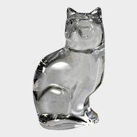 Orrefors Glass Sitting Cat Figurine