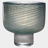 Orrefors Glass GRAAL Cabinet Vase By Olle Alberius, c1970's