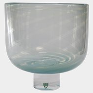 Orrefors Glass GRAAL Large Vase By Olle Alberius, c1970's