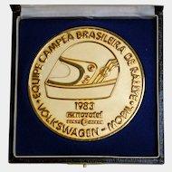 World Rally Car Championship Brass Medallion, Volkswagen GTI, c1983