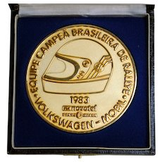 1983 World Rally Car Championship Brass Medallion