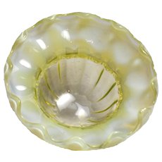Stourbridge Opalescent Yellow Vaseline Glass Sweetmeat Dish, c1880's