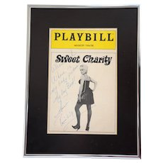 Ann Reinking • Sweet Charity • 1986 Revival, Autograph & Quotation on Playbill Cover
