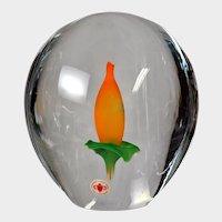 Beranek Glass Calla Lily Bi-Morphic Floral Paperweight Sculpture