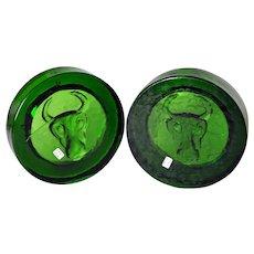 Boda Art Glass - MCM Bull Head Paperweight Bowls - by Erik Hoglund