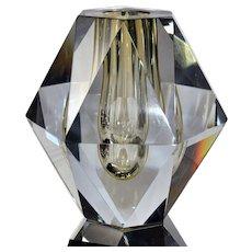 Strombergshyttan Glass - DIAMANT - Faceted Cut Glass Vase by Asta Stromberg