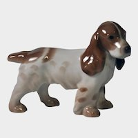 Bing & Grondahl Figure - Cocker Spaniel Standing at Attention - No. 2172